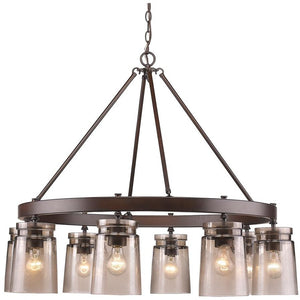 Golden Lighting Travers 8 Light Chandelier in Rubbed Bronze - 1405-8 RBZ-AG - 1
