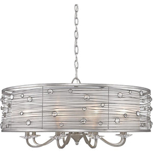 Golden Lighting Joia 8 Light Chandelier in Peruvian Silver with Sterling Mist Shade - 1993-8 PS - 1