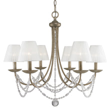 Golden Lighting Mirabella 6 Light Chandelier in Golden Aura with metal candlesticks - 7644-6 GA - 3