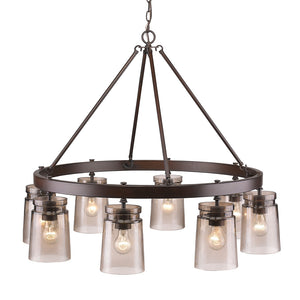 Golden Lighting Travers 8 Light Chandelier in Rubbed Bronze - 1405-8 RBZ-AG - 3