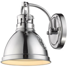 Golden Lighting Duncan 1 Light Bath Vanity in Chrome with a Chrome Shade - 3602-BA1 CH-CH - 1