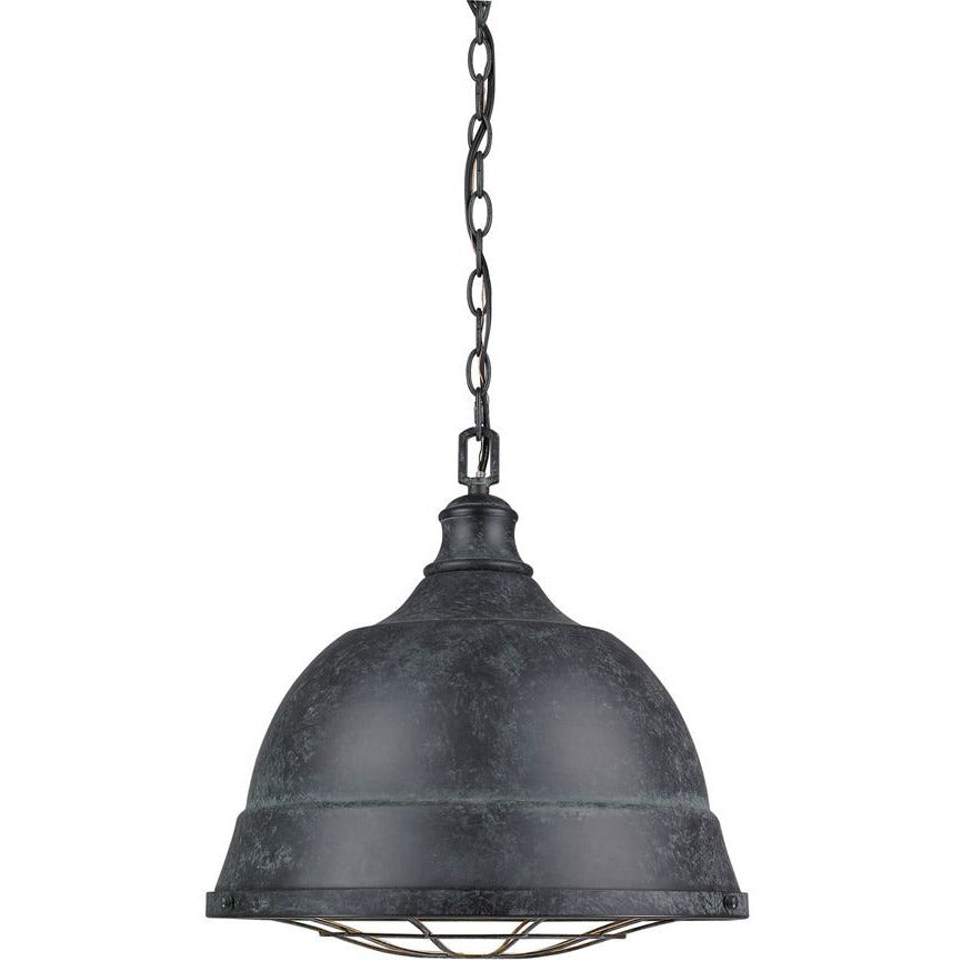 Golden Lighting Bartlett 2 Light Pendant in Black Patina - 7312-L BP - 1