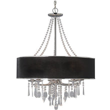 Golden Lighting Echelon 5 Light Chandelier in Chrome with Tuxedo Shade - 8981-5 GRM-Minimal & Modern