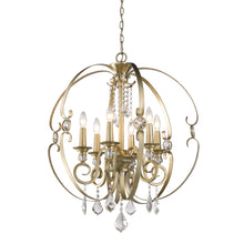 Golden Lighting Ella 6 Light Chandelier in White Gold - 1323-6 WG-Minimal & Modern