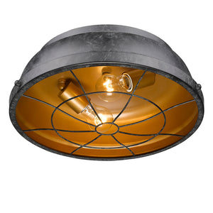Golden Lighting Bartlett Flush Mount in Black Patina - 7312-FM BP - 2