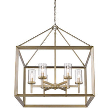 Golden Lighting Smyth 6 Light Chandelier in White Gold with Clear Glass - 2073-6 WG-CLR - 1