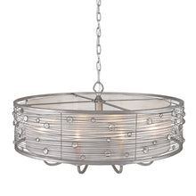 Golden Lighting Joia 8 Light Chandelier in Peruvian Silver with Sterling Mist Shade - 1993-8 PS - 3