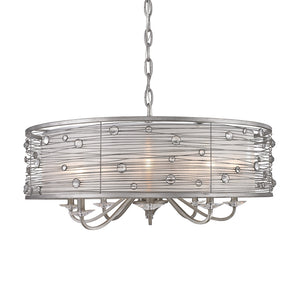 Golden Lighting Joia 8 Light Chandelier in Peruvian Silver with Sterling Mist Shade - 1993-8 PS - 4