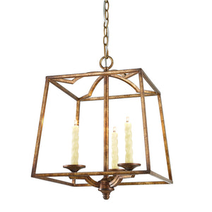 Golden Lighting Athena 3 Light Pendant in Grecian Gold - 3071-3P GG - 2