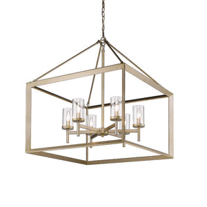 Golden Lighting Smyth 6 Light Chandelier in White Gold with Clear Glass - 2073-6 WG-CLR - 3