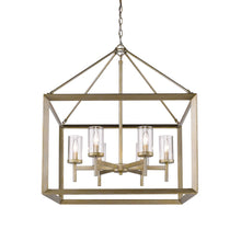 Golden Lighting Smyth 6 Light Chandelier in White Gold with Clear Glass - 2073-6 WG-CLR - 4