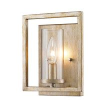 Golden Lighting Marco 1 Light Wall Sconce in White Gold with Clear Glass - 6068-1W WG - 2