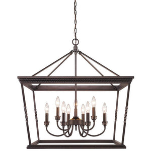 Golden Lighting Davenport 2 Tier - 9 Light Chandelier in Etruscan Bronze - 4214-9 EB - 1