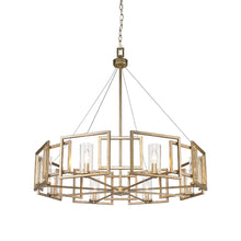 Golden Lighting Marco 8 Light Chandelier in White Gold with Clear Glass - 6068-8 WG-Minimal & Modern