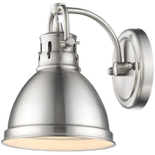 Golden Lighting Duncan 1 Light Bath Vanity in Pewter with a Pewter Shade - 3602-BA1 PW-PW - 1