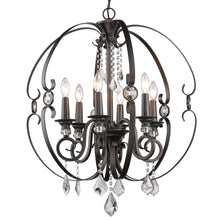 Golden Lighting Ella 6 Light Chandelier in Brushed Etruscan Bronze - 1323-6 EBB - 3