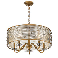 Golden Lighting Joia 5 Light Chandelier in Peruvian Gold with a Sheer Filigree Mist Shade - 1993-5 PG-Minimal & Modern