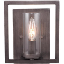 Golden Lighting Marco 1 Light Wall Sconce in Gunmetal Bronze with Clear Glass - 6068-1W GMT - 1