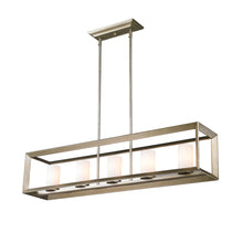 Golden Lighting Smyth 5 Light Linear Pendant in White Gold with Opal Glass - 2073-LP WG-Minimal & Modern