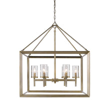 Golden Lighting Smyth 6 Light Chandelier in White Gold with Clear Glass - 2073-6 WG-CLR - 2
