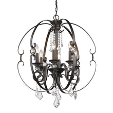 Golden Lighting Ella 6 Light Chandelier in Brushed Etruscan Bronze - 1323-6 EBB - 2
