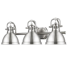 Golden Lighting Duncan 3 Light Bath Vanity in Pewter with Pewter Shades - 3602-BA3 PW-PW - 2