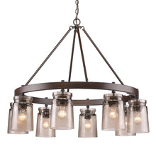 Golden Lighting Travers 8 Light Chandelier in Rubbed Bronze - 1405-8 RBZ-AG - 4