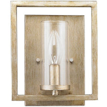 Golden Lighting Marco 1 Light Wall Sconce in White Gold with Clear Glass - 6068-1W WG - 1