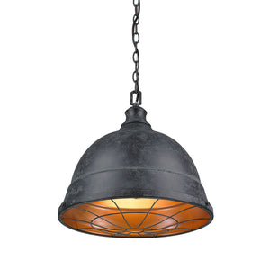 Golden Lighting Bartlett 2 Light Pendant in Black Patina - 7312-L BP - 2