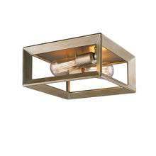 Golden Lighting Smyth Flush Mount in White Gold - 2073-FM WG - 2