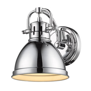 Golden Lighting Duncan 1 Light Bath Vanity in Chrome with a Chrome Shade - 3602-BA1 CH-CH - 2