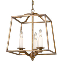 Golden Lighting Athena 3 Light Pendant in Grecian Gold (Incandescent) - 3072-3P GG-Minimal & Modern