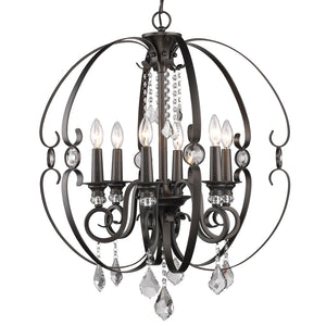 Golden Lighting Ella 6 Light Chandelier in Brushed Etruscan Bronze - 1323-6 EBB - 4