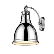 Golden Lighting Duncan 1 Light Wall Sconce in Chrome with a Chrome Shade - 3602-1W CH-CH - 2