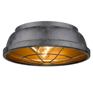 Golden Lighting Bartlett Flush Mount in Black Patina - 7312-FM BP - 3