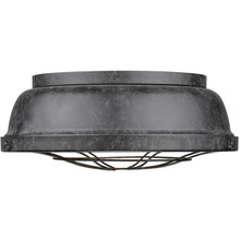 Golden Lighting Bartlett Flush Mount in Black Patina - 7312-FM BP - 1