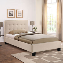 Modway Furniture Modern Caitlin Twin Fabric Bed in Beige MOD-5191-BEI-SET-Minimal & Modern