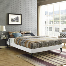 Modway Furniture Modern Sharon Full Vinyl Bed Frame with Squared Tapered Legs-Minimal & Modern