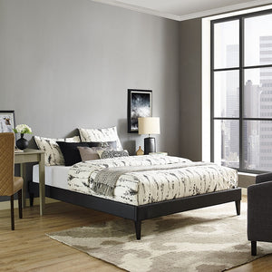 Modway Furniture Modern Sharon Queen Vinyl Bed Frame with Squared Tapered Legs-Minimal & Modern