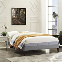 Modway Furniture Modern Sharon Queen Fabric Bed Frame with Squared Tapered Legs-Minimal & Modern
