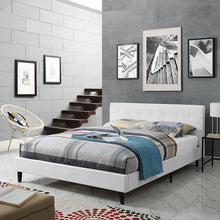 Modway Furniture Modern Linnea Queen Vinyl Bed-Minimal & Modern