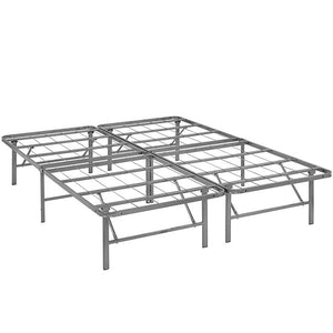 Modway Furniture Modern Horizon Queen Stainless Steel Bed Frame-Minimal & Modern