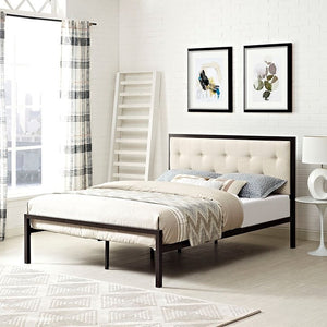 Modway Furniture Modern Lottie King Fabric Bed-Minimal & Modern
