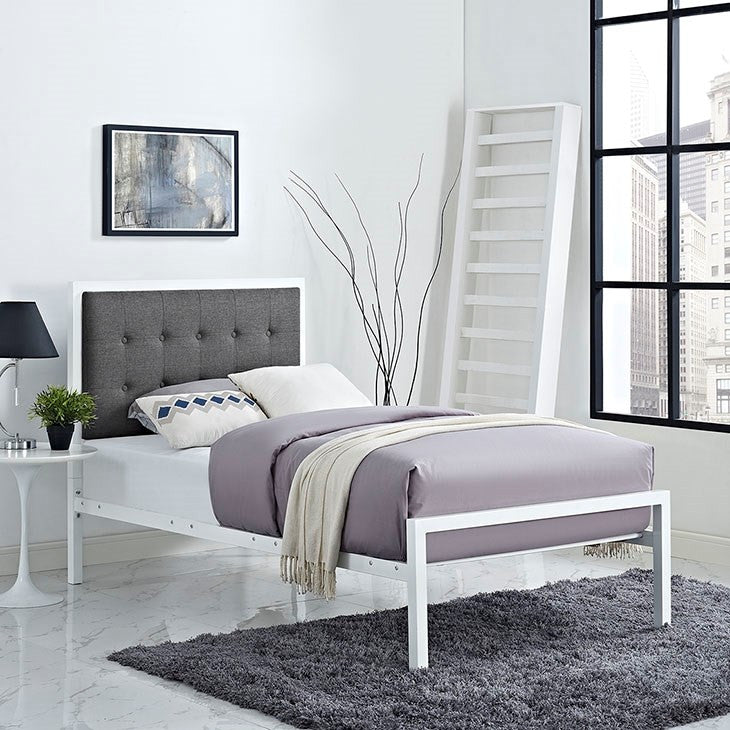 Modway Furniture Modern Millie Twin Fabric Bed-Minimal & Modern