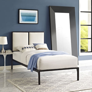 Modway Furniture Modern Della Twin Fabric Bed-Minimal & Modern