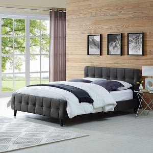 Modway Furniture Modern Ophelia Queen Fabric Bed-Minimal & Modern