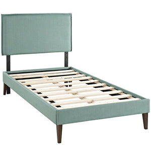 Modway Furniture Modern Camille Twin Fabric Platform Bed with Squared Tapered Legs-Minimal & Modern