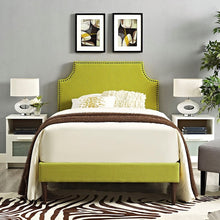 Modway Furniture Modern Laura Twin Fabric Platform Bed with Round Tapered Legs-Minimal & Modern