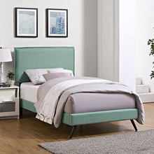 Modway Furniture Modern Camille Twin Fabric Platform Bed with Round Splayed Legs-Minimal & Modern