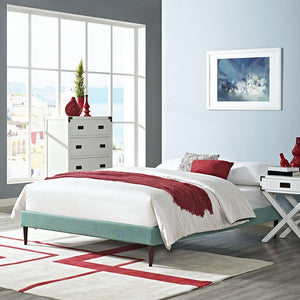 Modway Furniture Modern Sherry Full Fabric Bed Frame with Round Tapered Legs-Minimal & Modern